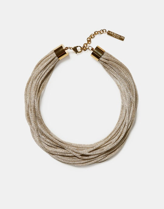 Multi Strand Signature Mesh Necklace