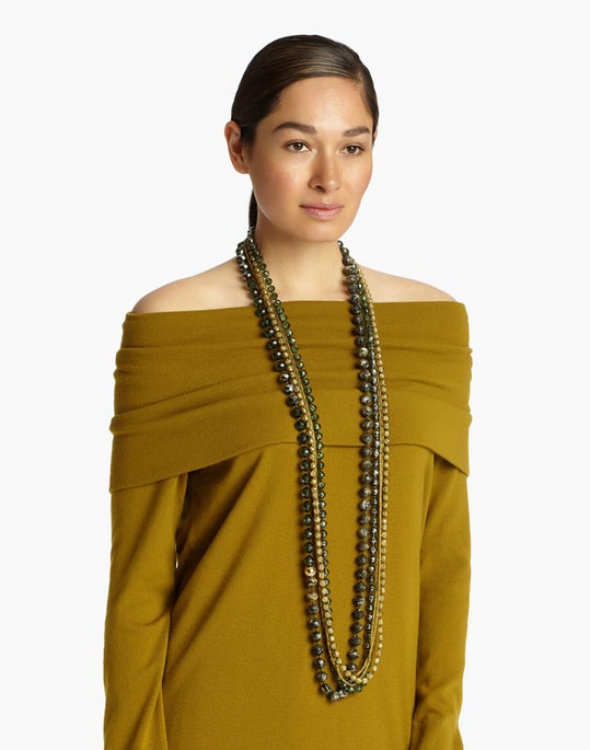 Long Ombré Beaded Necklace