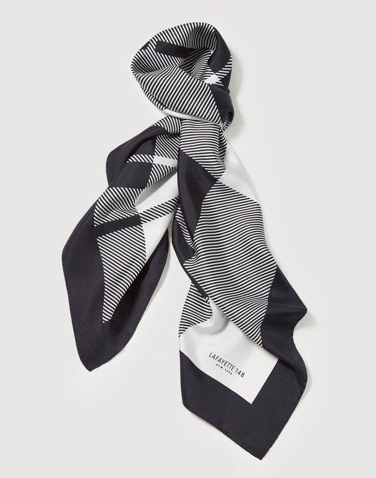 Italian Silk Twill Vivid Plaid Scarf