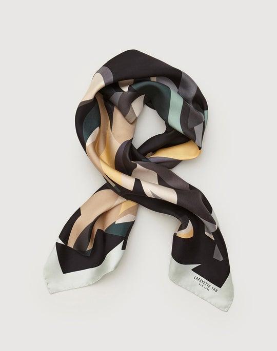 Ornamental Mosaic Silk Twill Scarf