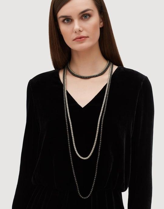 Mesh Net Multi Strand Necklace