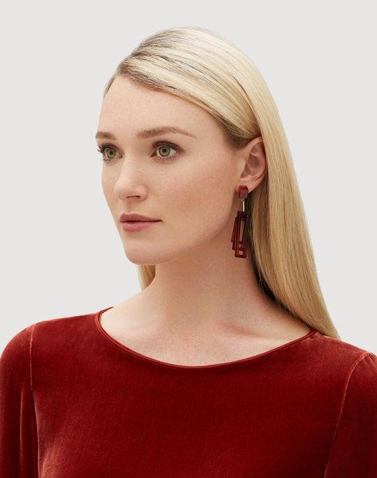 3D Rectangle Earring