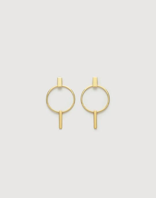 Circular Modern Door Knocker Earring