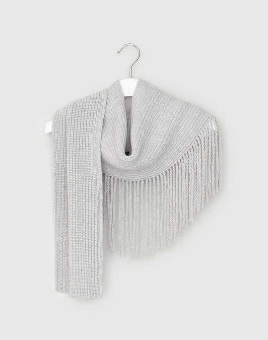 Cashmere Waterfall Fringe Scarf