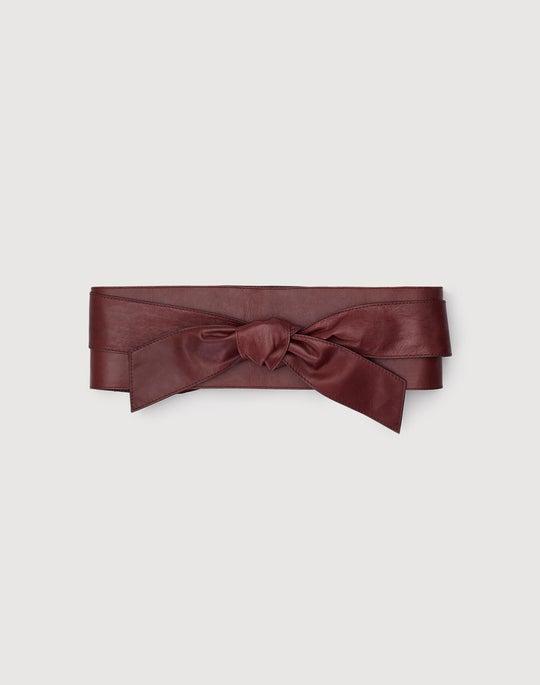 Wide Leather Obi Belt