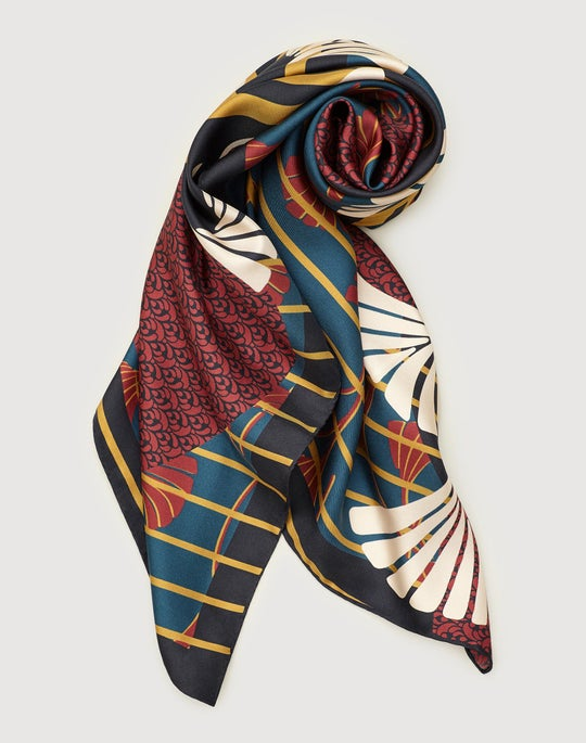 Deco Relief Print Scarf