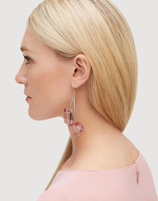 Lucite Stone Earring