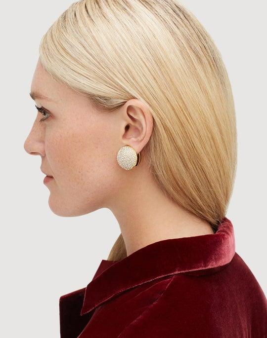 Pavé Sphere Clip Earring