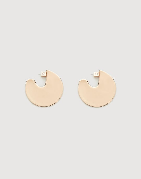 Large Semi-Circle Drop Earring