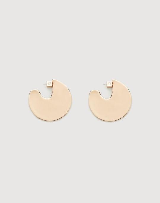 Large Semi-Circle Drop Earring