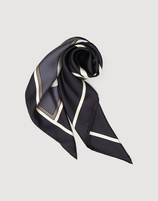 Italian Silk Abstract Square Scarf
