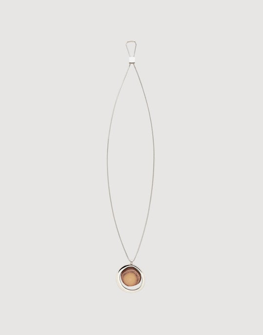 Stone And Metal Pendant Necklace