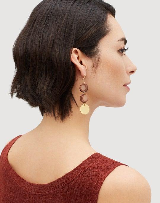 Linear Disc Earrings