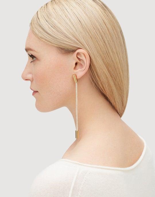 Signature Mesh Linear Earrings