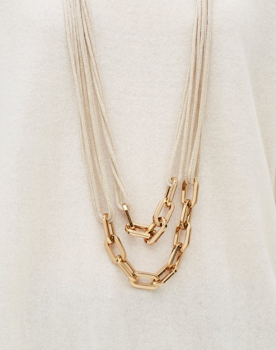 Signature Mesh And Chain Necklace