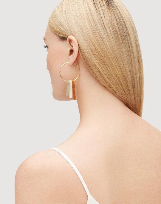 Tiered Stone Earrings