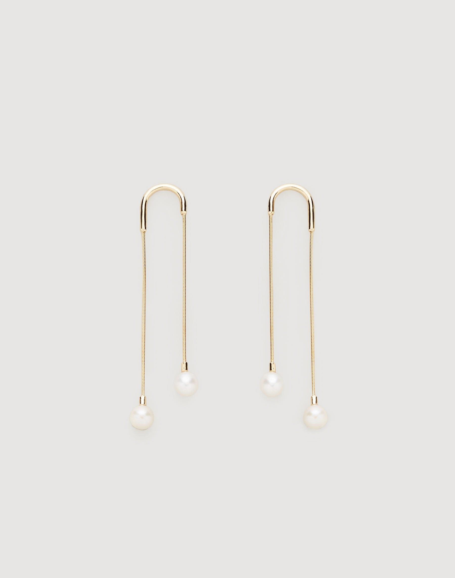 Lafayette 148 Freshwater Pearl Waterfall Earrings In Gold