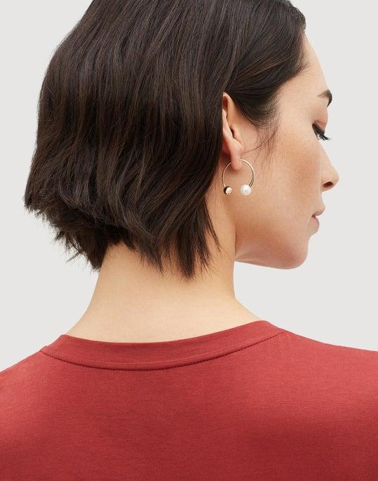 Freshwater Pearl Small Hoop Earrings