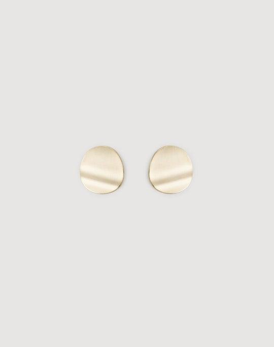 Large Wavy Disk Earrings