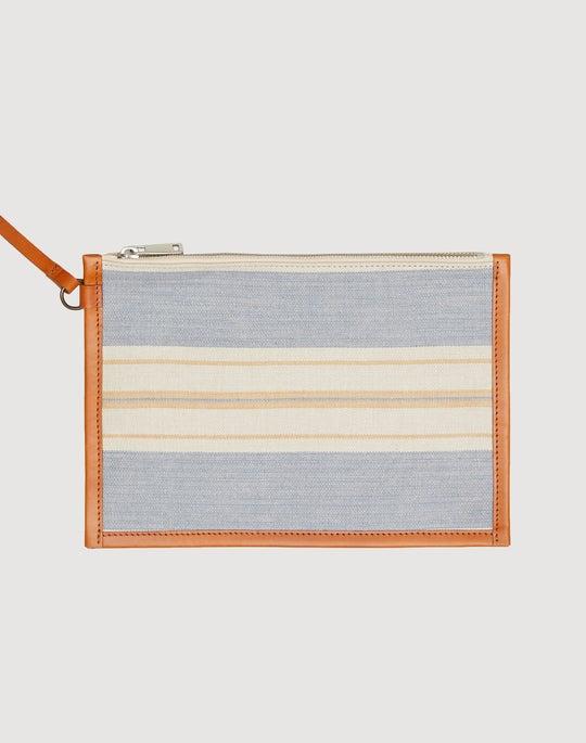 Striped Linen Tote