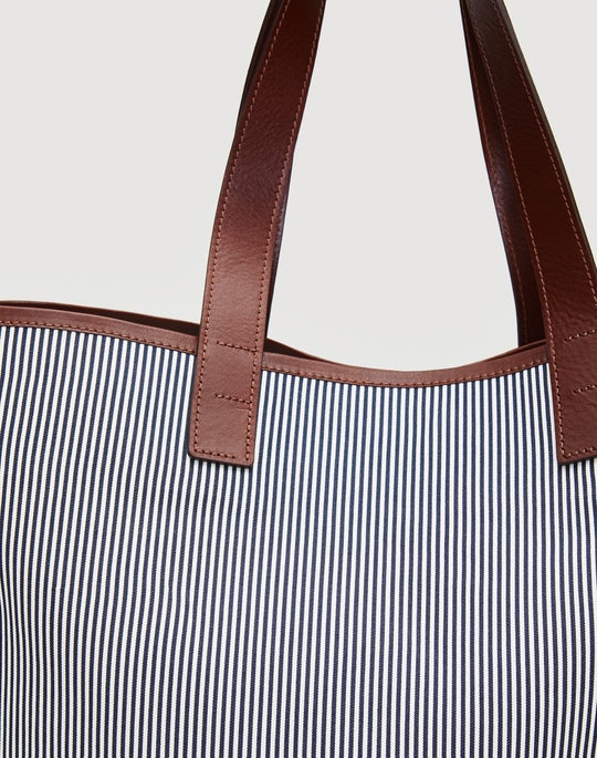 Stripe Cotton Tote