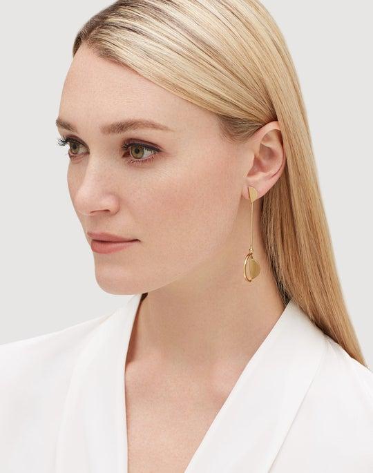 Crescent Linked Earrings