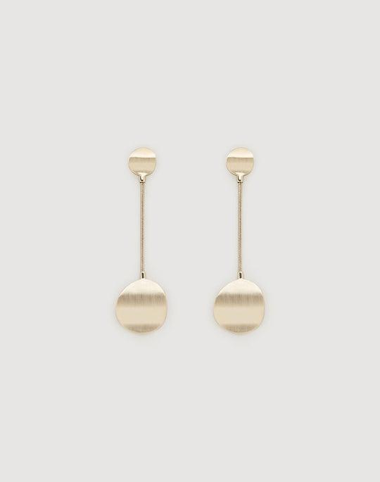 Wavy Disc Drop Earrings