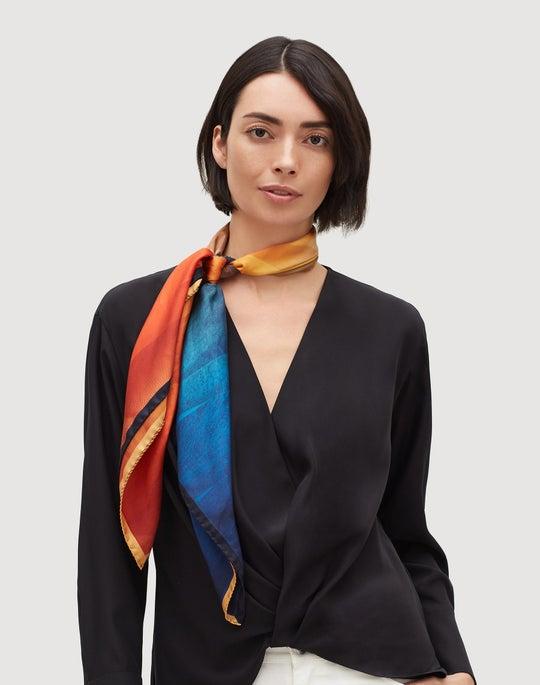 Italian Silk Textured Desert Scarf