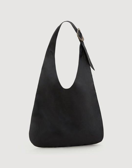 Slouchy Nylon Hobo Bag