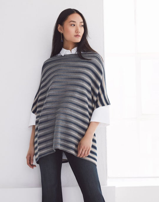 Knit Poncho and Mercer Flare Jean