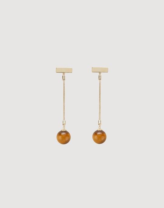 Linear Stone Drop Earring
