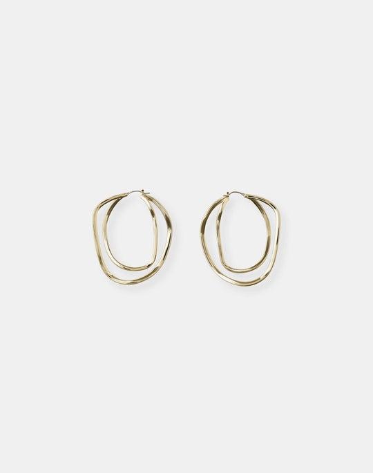 Large Swirl Hoop Earrings