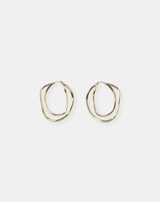 Large Swirl Hoop Earrings