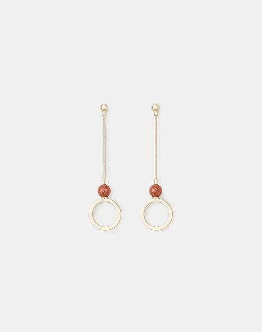 Open Circle Linear Earrings