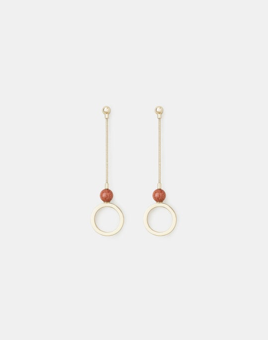 Open Circle Linear Earrings