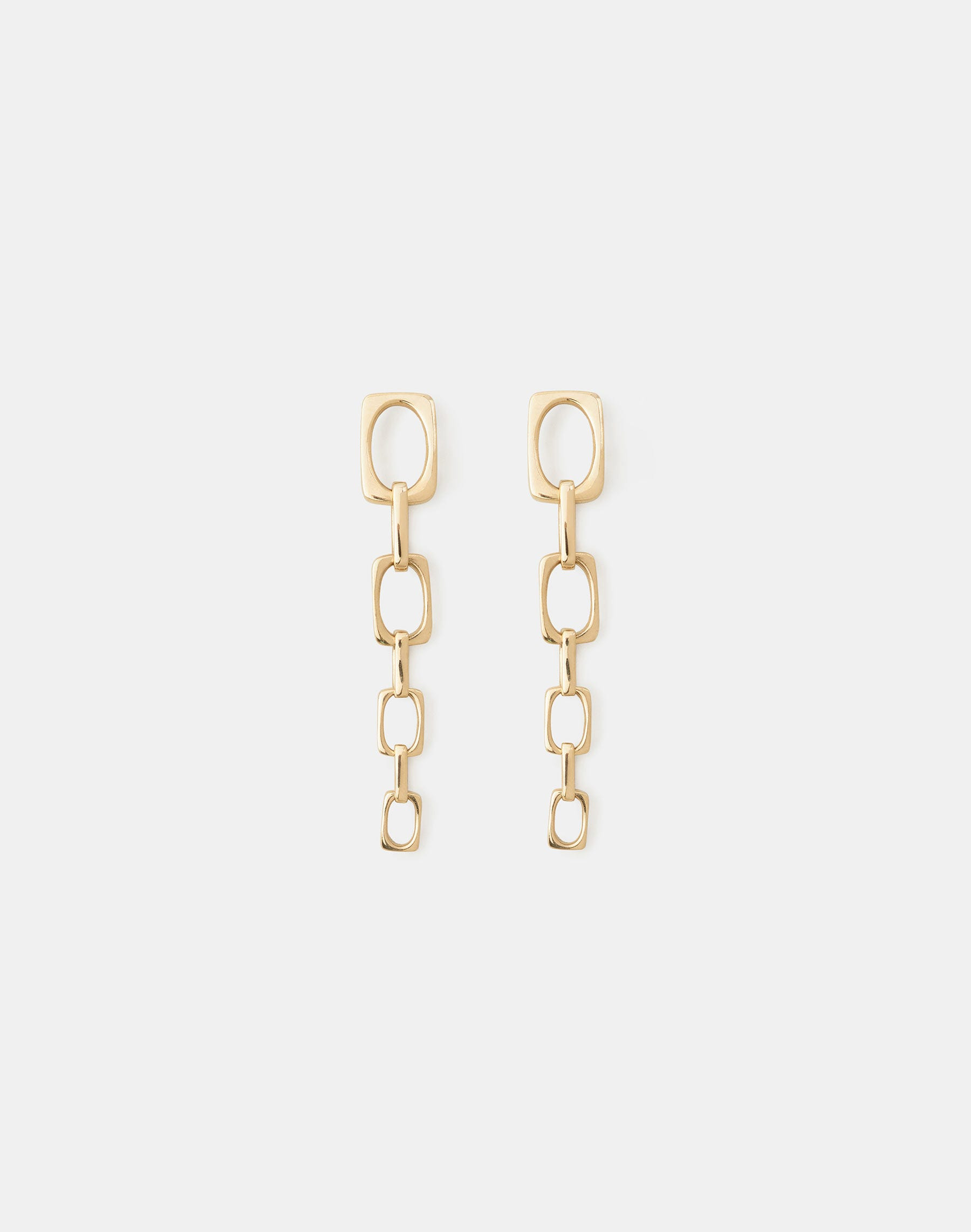 Lafayette 148 Rectangle Link Earring In Gold