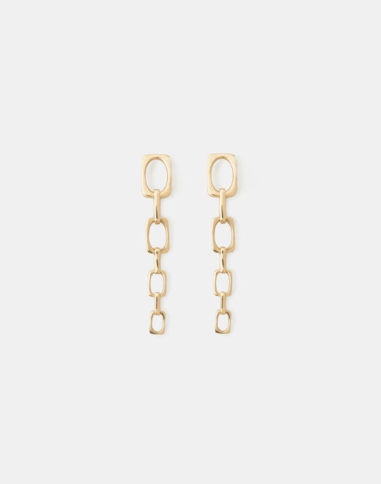 Rectangle Link Earring