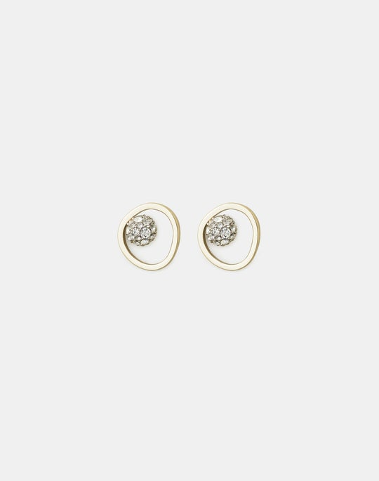 Circle Bead Stud Earrings