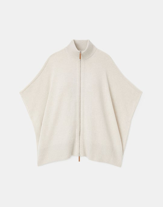 Cashmere Zip Front Poncho