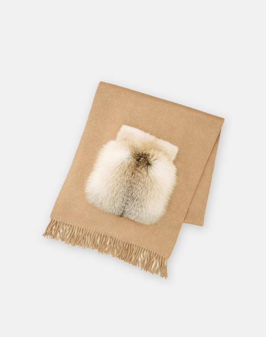Mink & Fox Embellished Cashmere Shawl