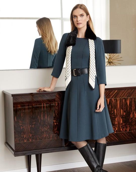 Mink Collar and Amalie Dress