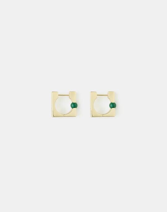 Stone Huggie Earring