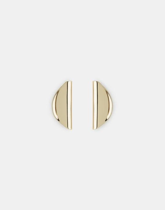 Folded Semi-Circle Earring
