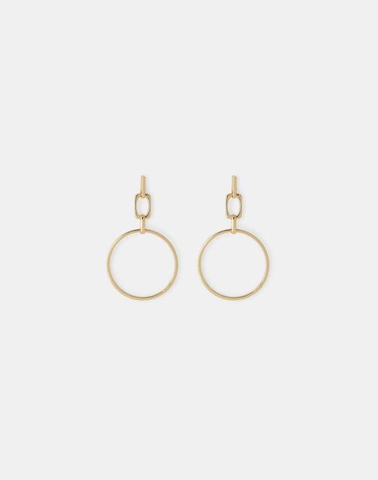 Circle Link Drop Earring