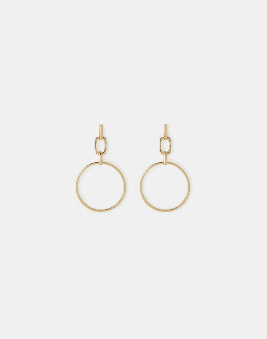 Circle Link Drop Earring