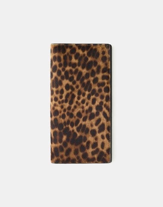 Cheetah Print Calf Hair Passport Holder