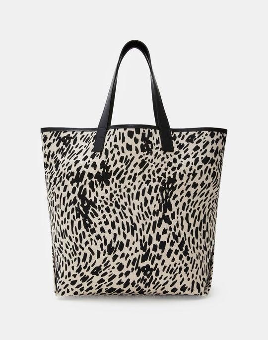 Cheetah Print Large Tote Bag