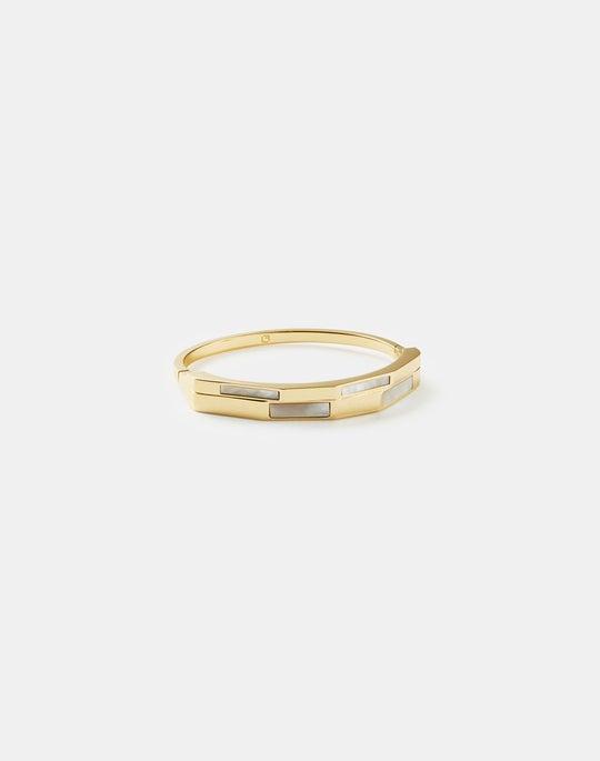 Geo Gemstone Hinge Bracelet