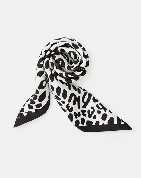 Animal Print Silk Twill Scarf