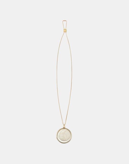 Drop Pendant Resin Necklace